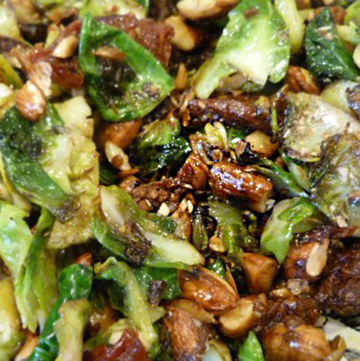 Brussels sprouts hold the bacon