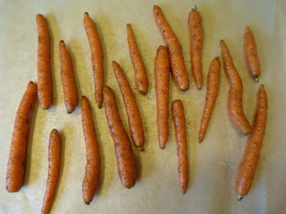 Spiced Carrots with Tahini