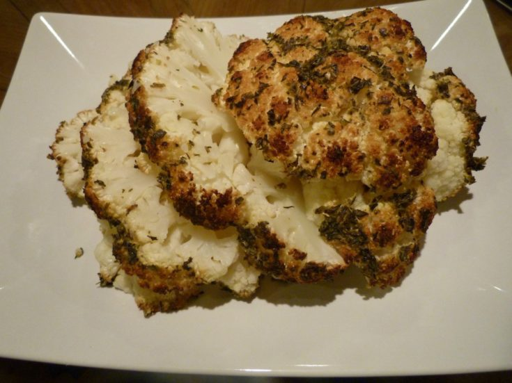 Whole Roasted Herb Rubbed Cauliflower