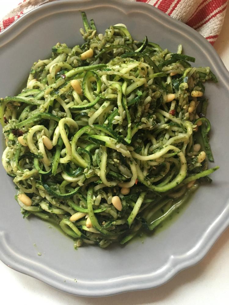 Arugula Pesto with Zucchini Noodles Recipe