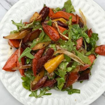 Roasted carrot and fennel salad
