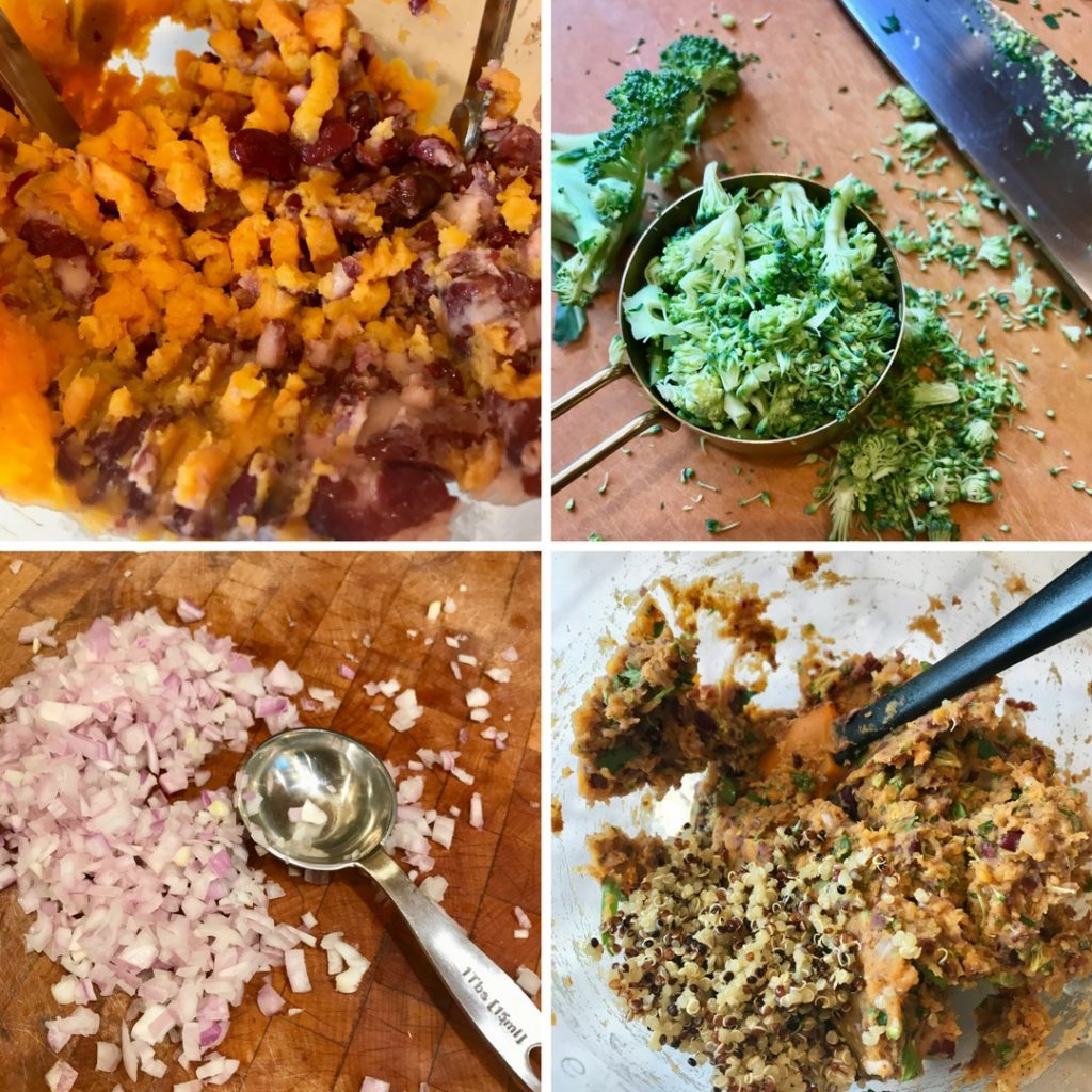 Step by step making a simple veggie burger batter