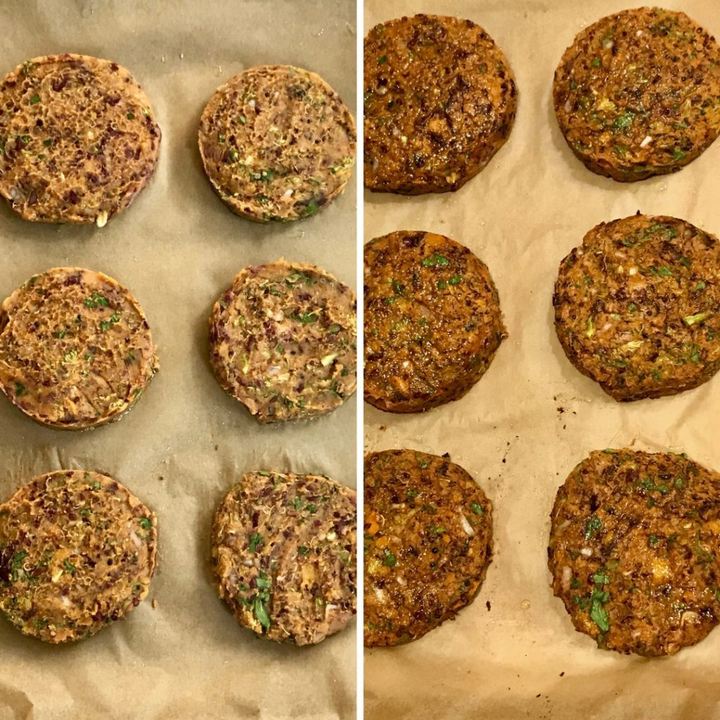 Simple Veggie Burgers