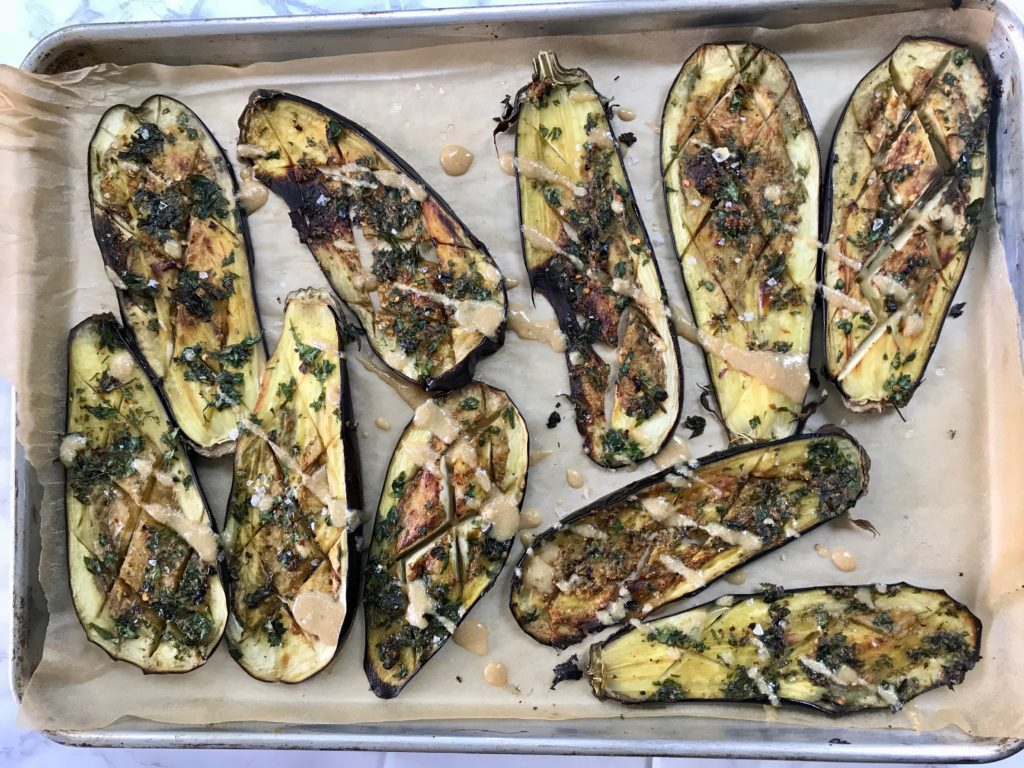 Roasted Eggplant + Tahini