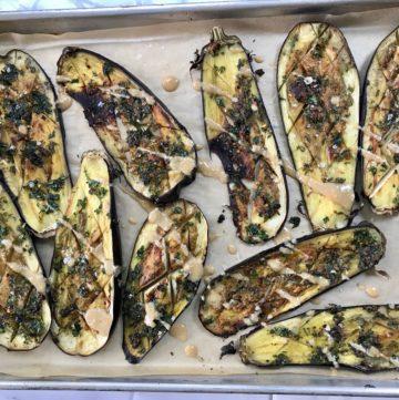 Roasted Eggplant + Tahini