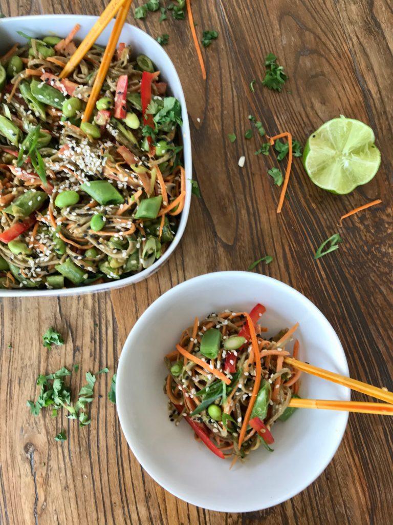 Sesame Soba Noodle + Veggie Salad