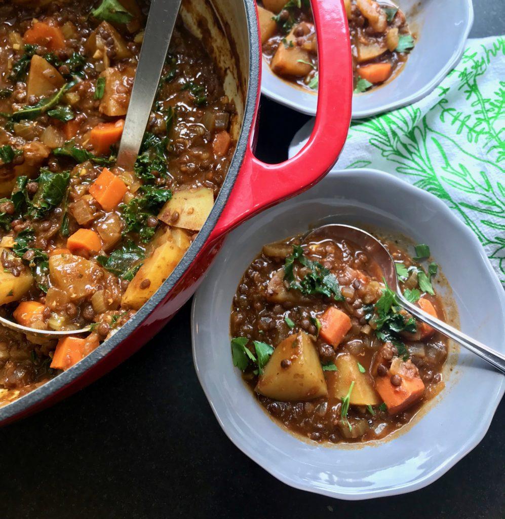 Vegan No Beef Stew. Healthy Gluten-free Recipe