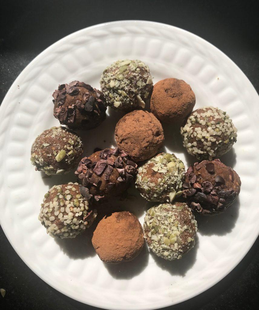 Pumpkin Spice Bliss Balls. Vegan and Gluten-free