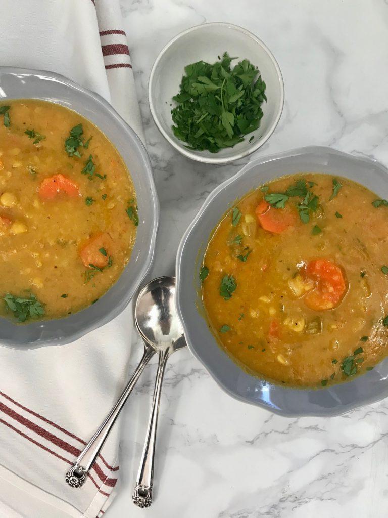 Yellow Split Pea Soup {vegan and gluten-free}