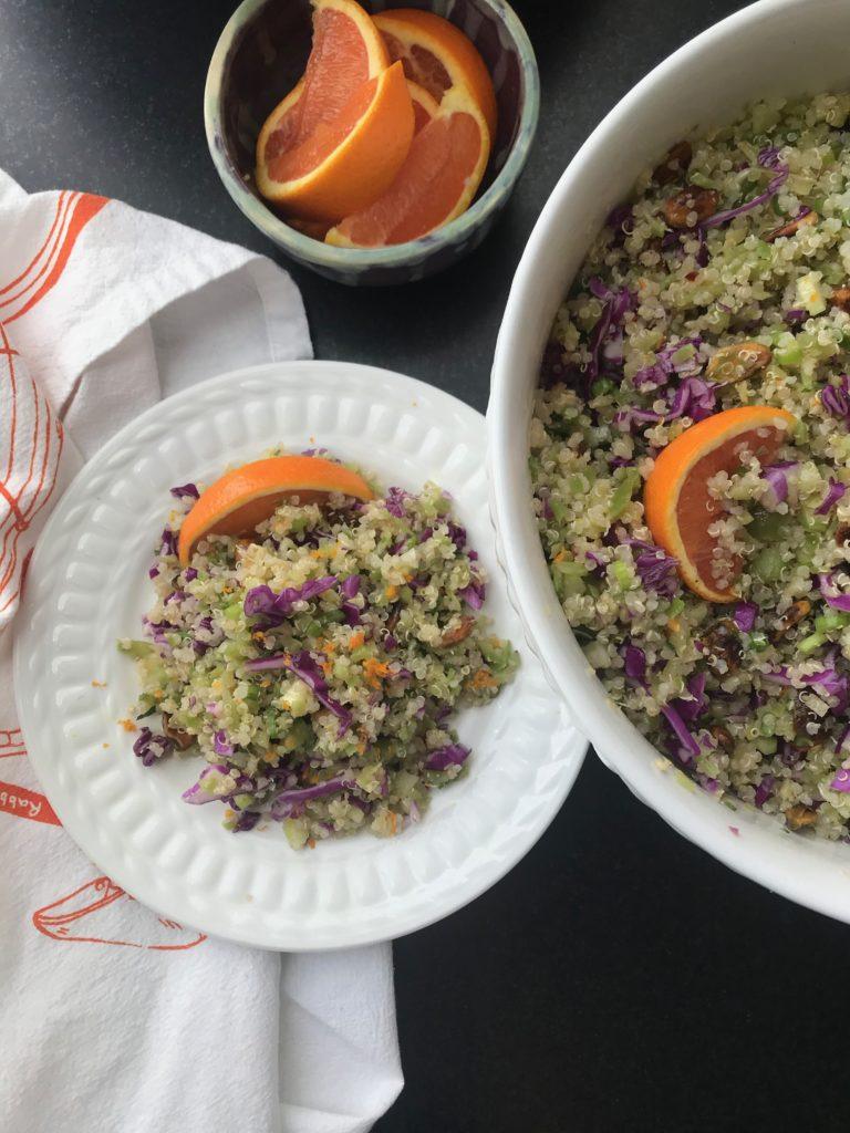 Riced Broccoli and quinoa salad