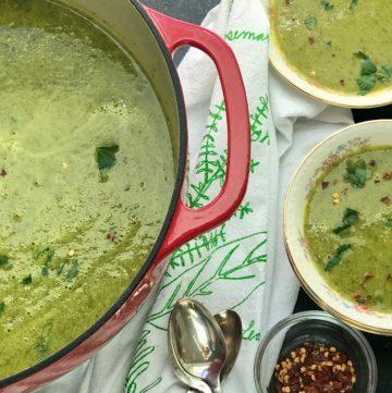 Parsnip and Kale Soup