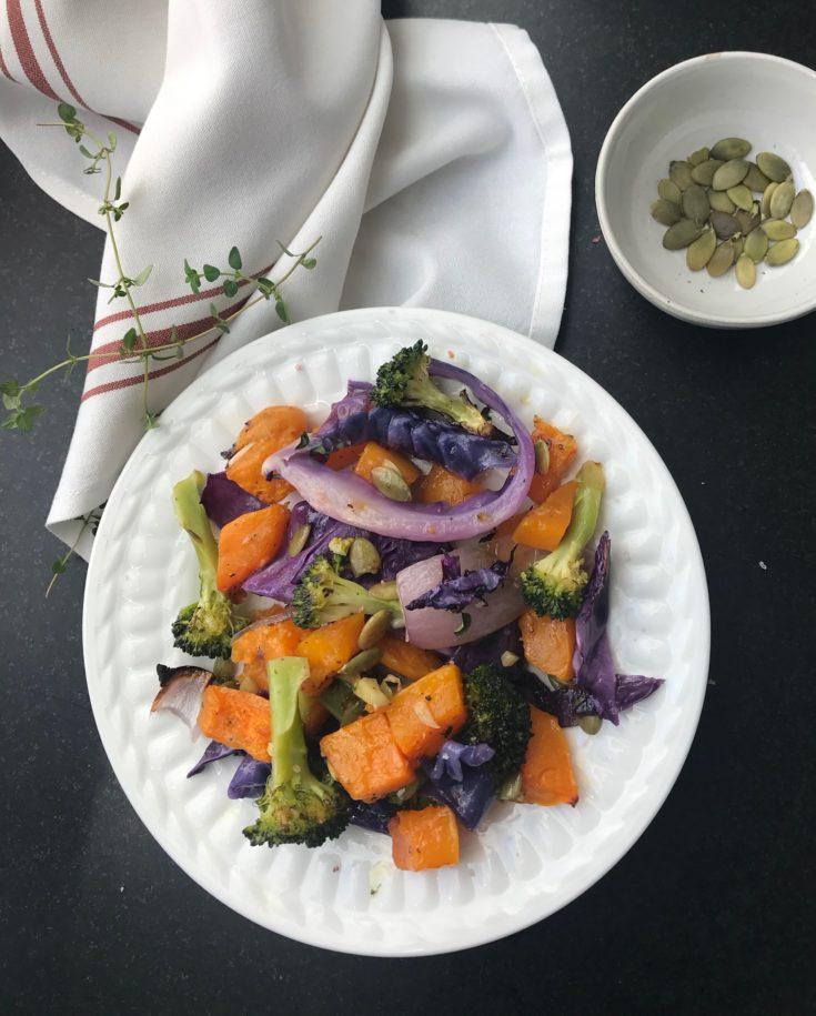 Roasted Butternut Squash with Tasty Veggies