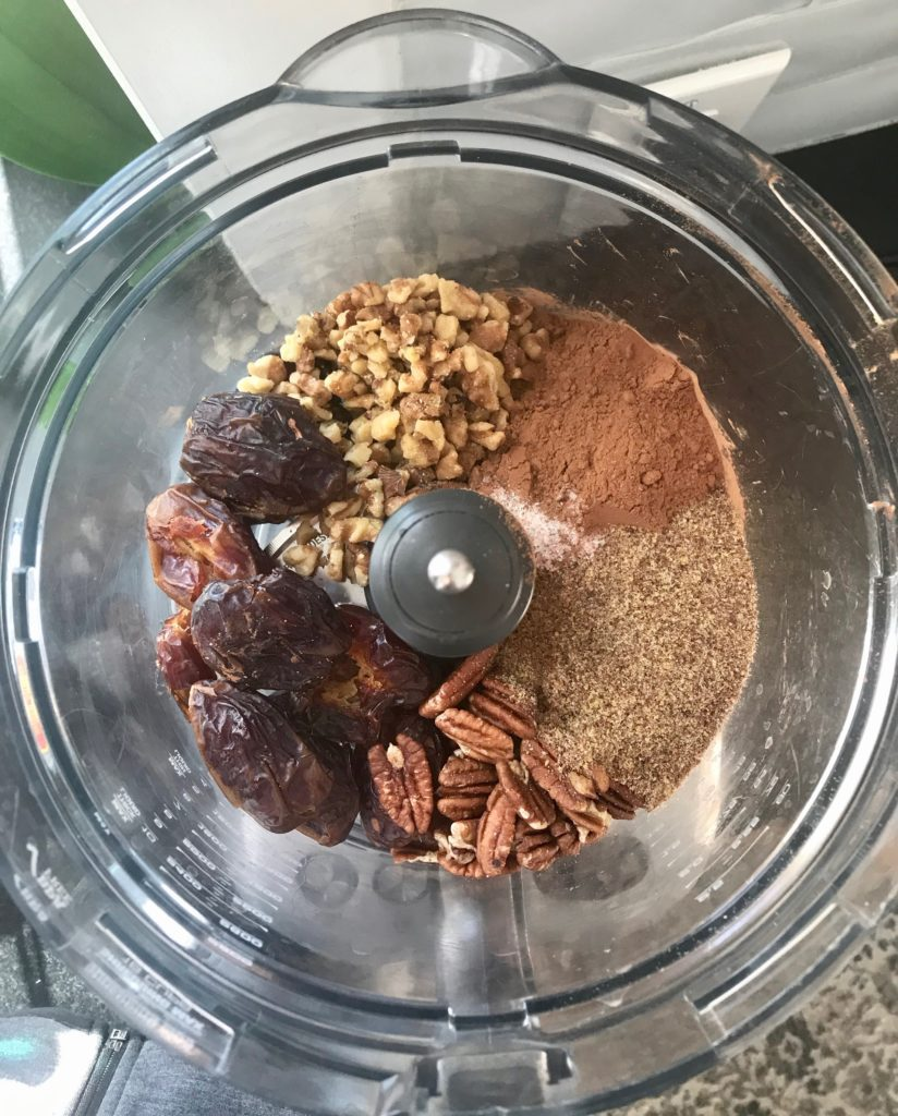 Salted Chocolate Raw Brownie Bites