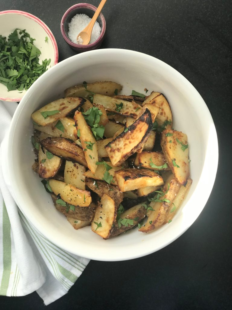 Maple Miso Potato Wedges