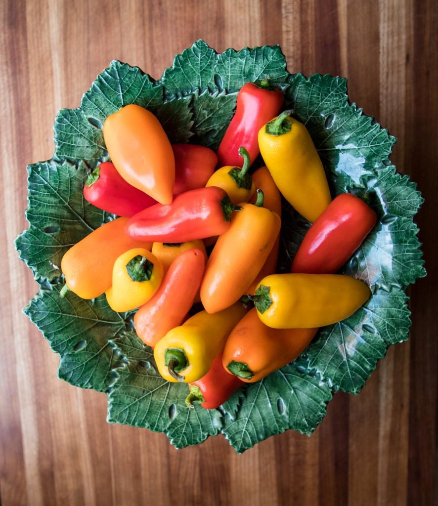 Mini Peppers make a nutrient dense vessel to hold the grain-free stuffing.