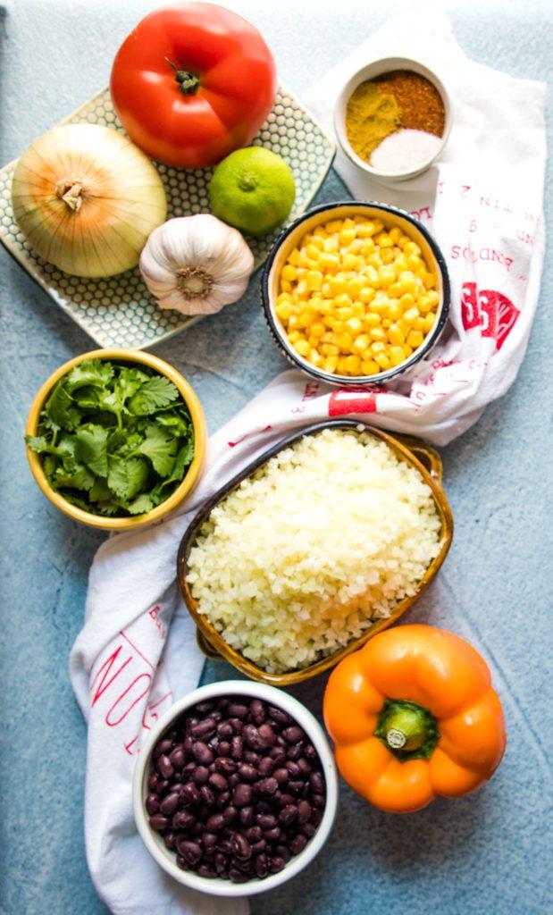 colorful veggie ingredients