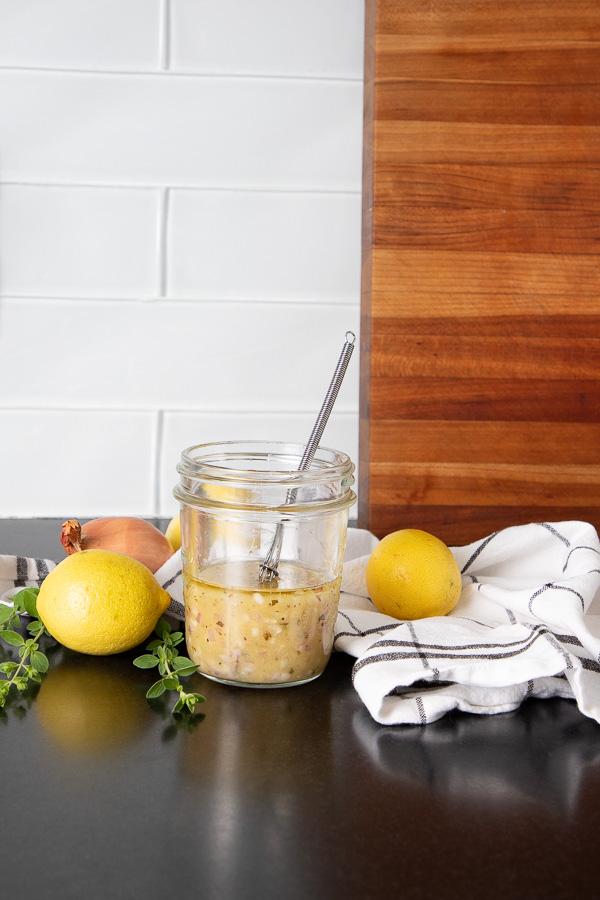 Lemons in an easy  salad dressing recipe