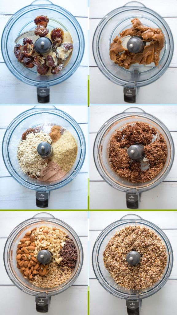 Step by step energy bars