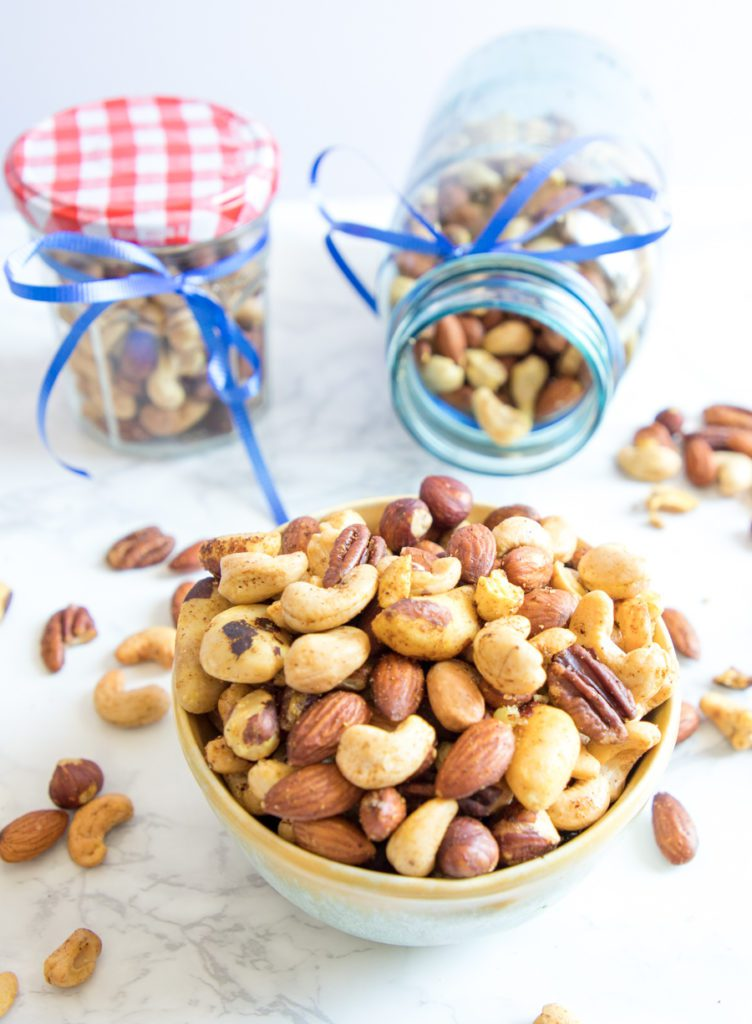 A bowl or a jar to go party nuts