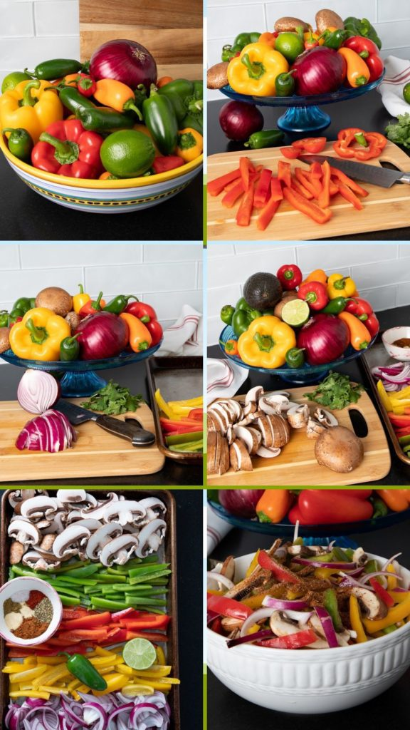 Step by Step making Veggie Fajita