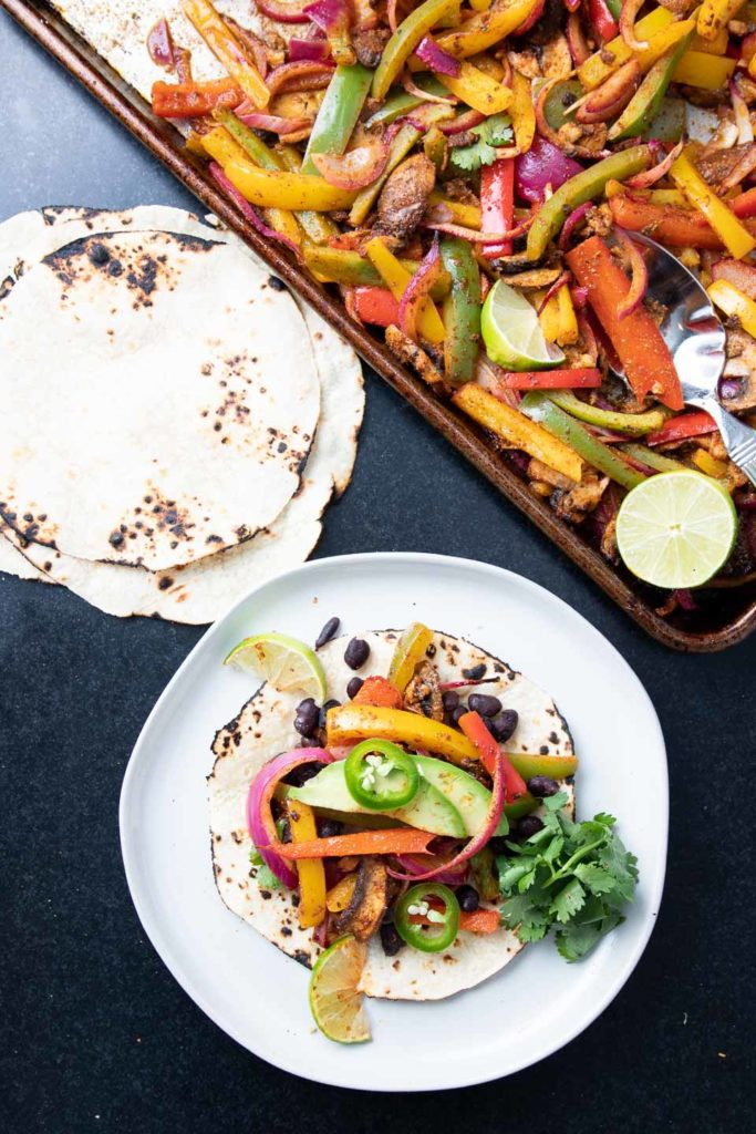 Build your own fajita with roasted veggies