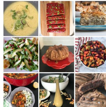 Photo collage of Rosh Hashanah Recipes