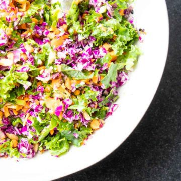 Brightly colors of chopped veggies.