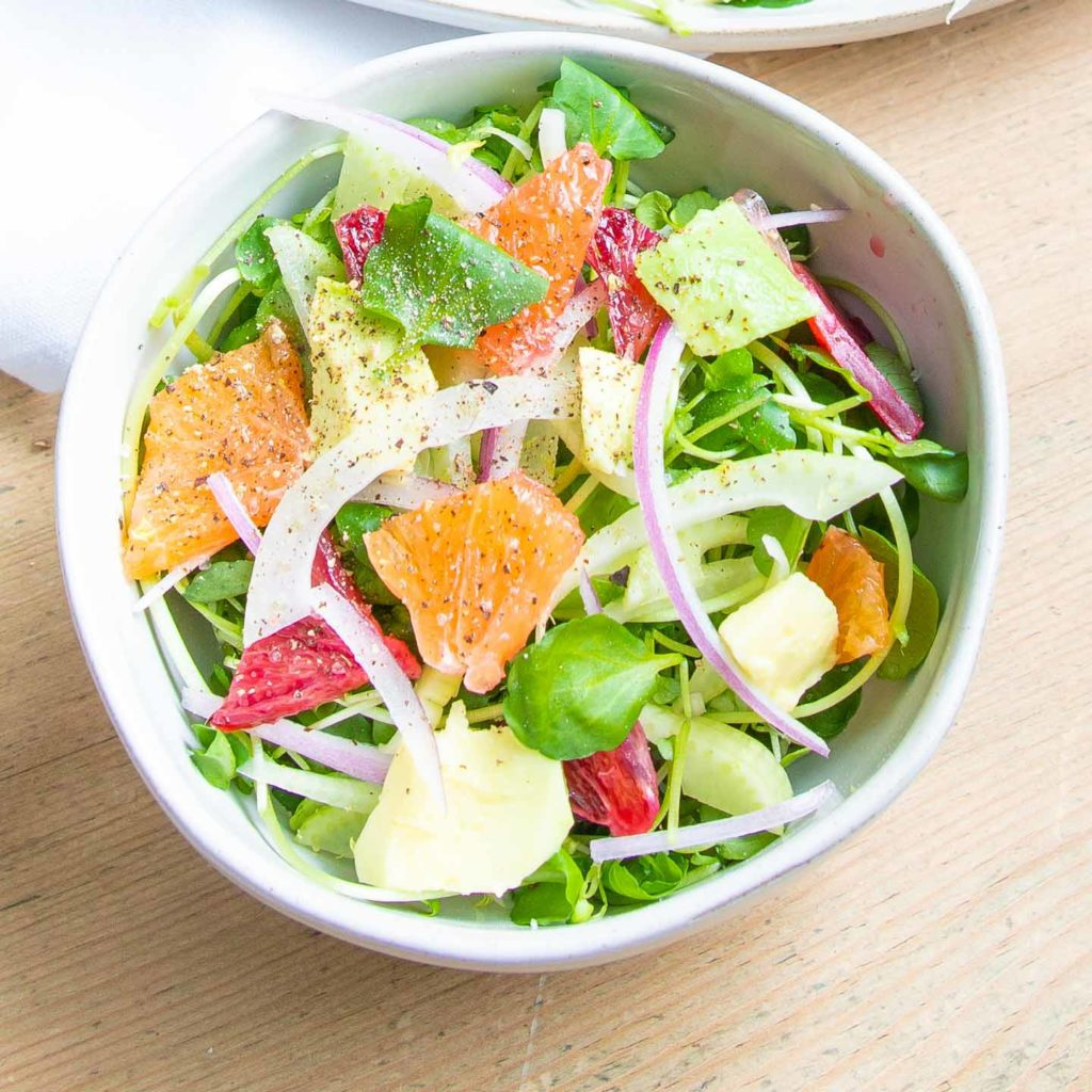 Small bowl orange and fennel salad