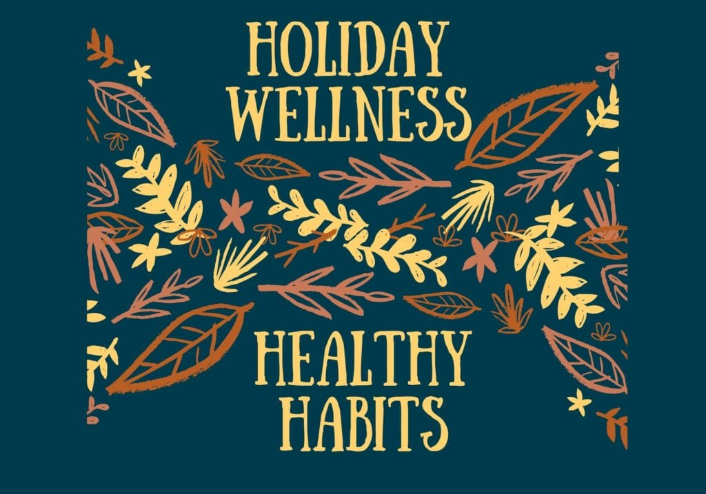 Thanksgiving motifs with graphics: Holiday Wellness: Healthy Habits